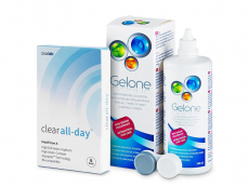 Clear All-Day (6kpl) +Gelone-piilolinssineste 360ml