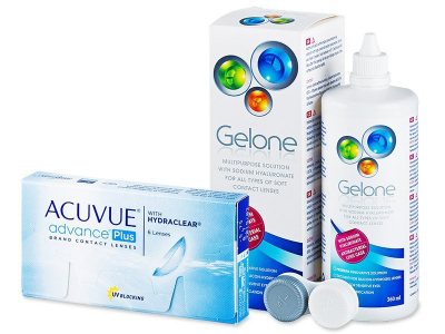 Acuvue Advance PLUS (6 kpl) + Gelone 360 ml