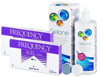 FREQUENCY XCEL TORIC (2x3kpl) +Gelone-piilolinssineste 360ml