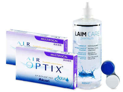 Air Optix Aqua Multifocal (2x3 kpl) + Laim-Care 400ml