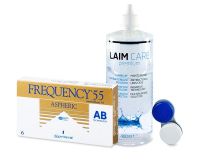 Frequency 55 Aspheric (6 kpl) + Laim-Care-piilolinssineste 400ml