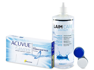 Acuvue Oasys for Astigmatism (6 kpl) + Laim-Care 400ml