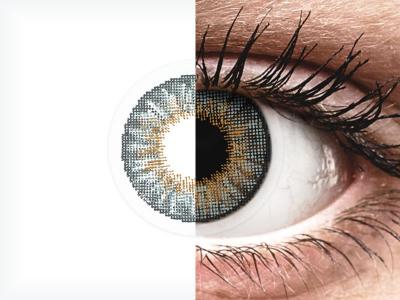 Harmaat piilolinssit - tehoilla - Air Optix (2kpl)