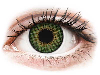 Vihreät piilolinssit - tehoilla - Air Optix (2kpl)