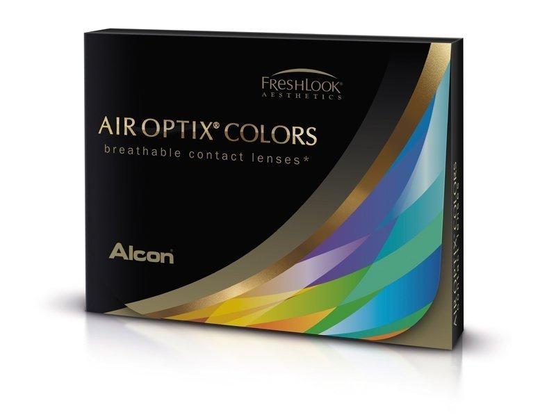 Harmaat Sterling linssit - tehoilla - Air Optix (2kpl)