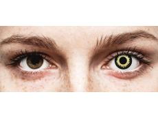 Keltaiset Eclipse piilolinssit - ColourVue Crazy (2 kpl)