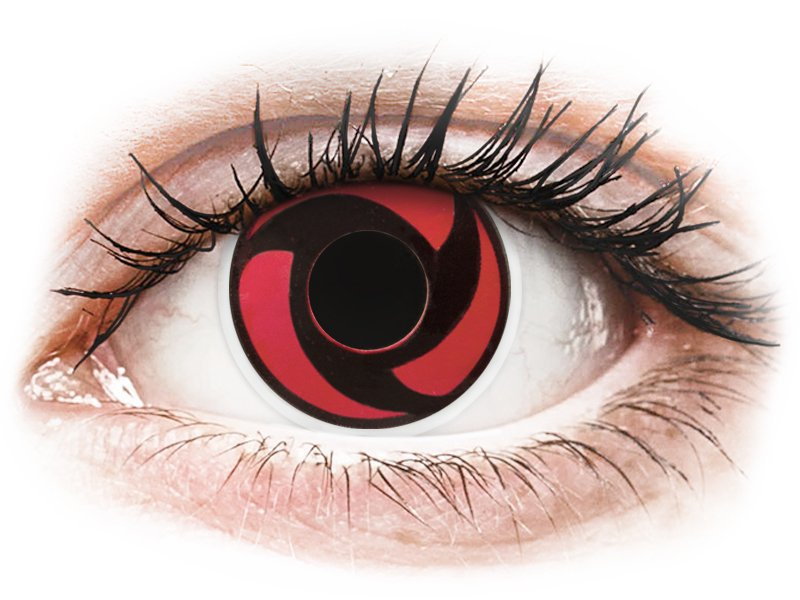 Punaiset Mangekyu piilolinssit - ColourVue Crazy (2 kpl)