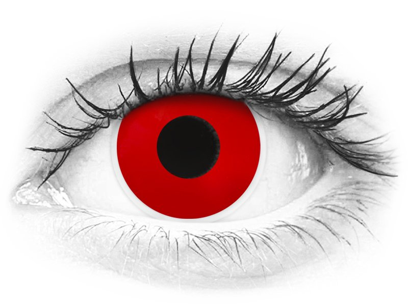 Punaiset Devil piilolinssit - ColourVue Crazy (2 kpl)