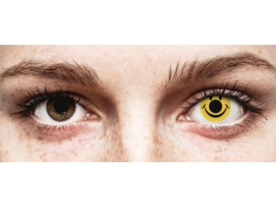 Keltaiset Smiley piilolinssit - ColourVue Crazy (2 kpl)