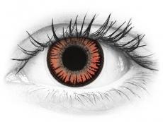 Punaiset ja Oranssit Vampire linssit - ColourVue Crazy (2 kpl)