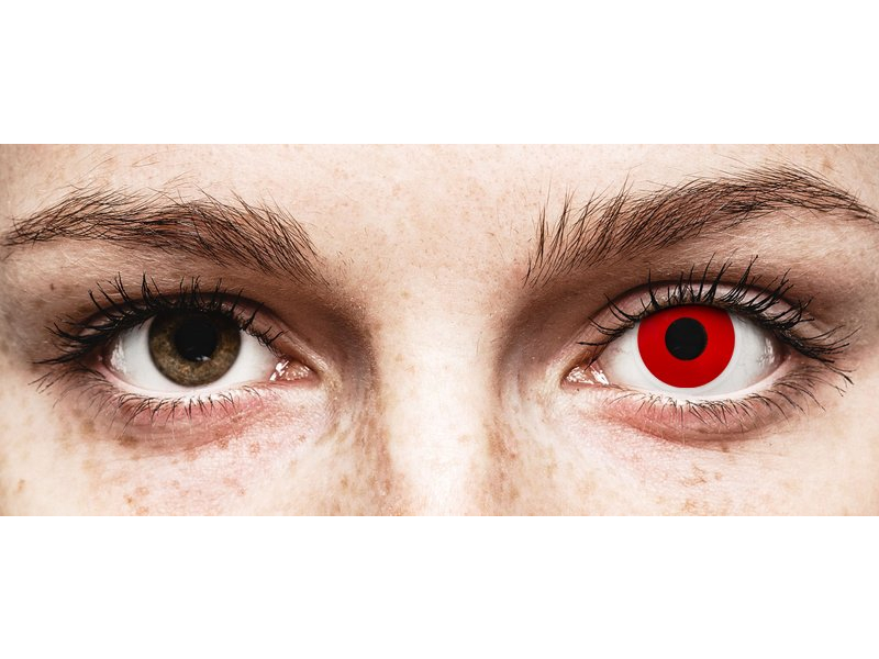 Punaiset Devil piilolinssit - tehoilla - ColourVue Crazy (2 kpl)