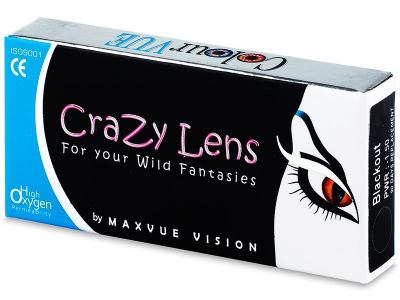 Valkoiset Zombie linssit - tehoilla - ColourVue Crazy (2 kpl)