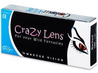 Valkoiset WhiteOut piilolinssit - tehoilla - ColourVue Crazy (2 kpl)