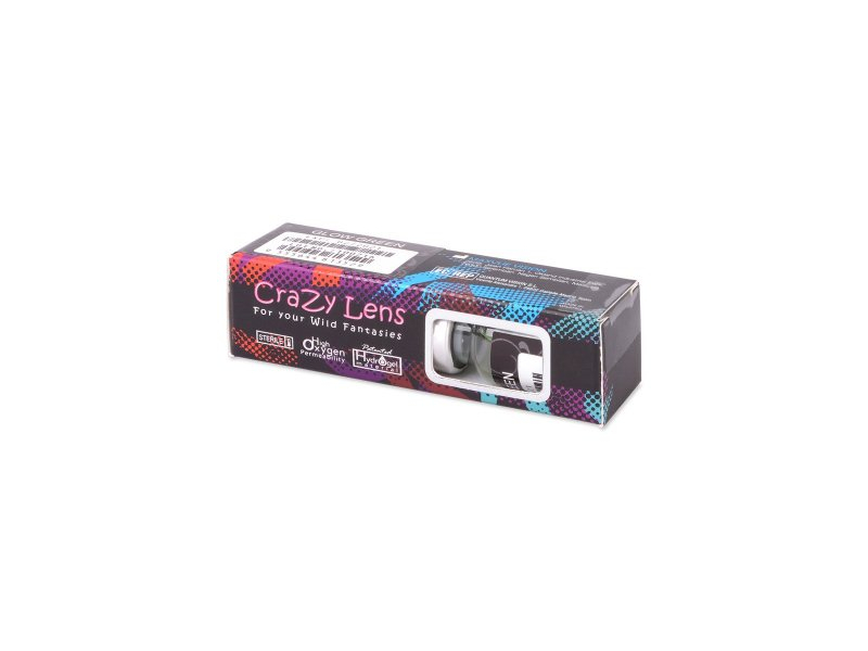 Sähkön Siniset Glow linssit - ColourVue Crazy (2kpl)