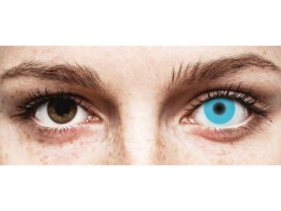 Siniset Glow piilolinssit - ColourVue Crazy (2kpl)