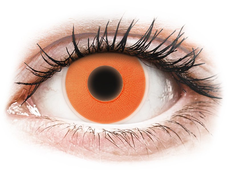 Oranssit Glow piilolinssit - ColourVue Crazy (2kpl)