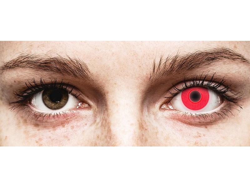 Punaiset Glow piilolinssit - ColourVue Crazy (2kpl)
