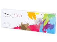 Pehmeän Harmaat linssit - tehoilla - TopVue Color (10kpl)