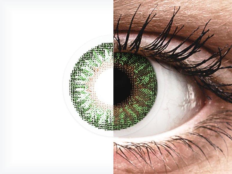 Vihreät piilolinssit - tehoilla - TopVue Color (2kpl)