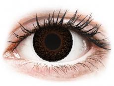 Ruskeat Choco Eyelush linssit - tehoilla - ColourVue (2kpl)