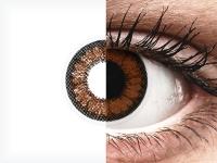 Ruskeat Pähkinä linssit - tehoilla - ColourVUE BigEyes (2kpl)