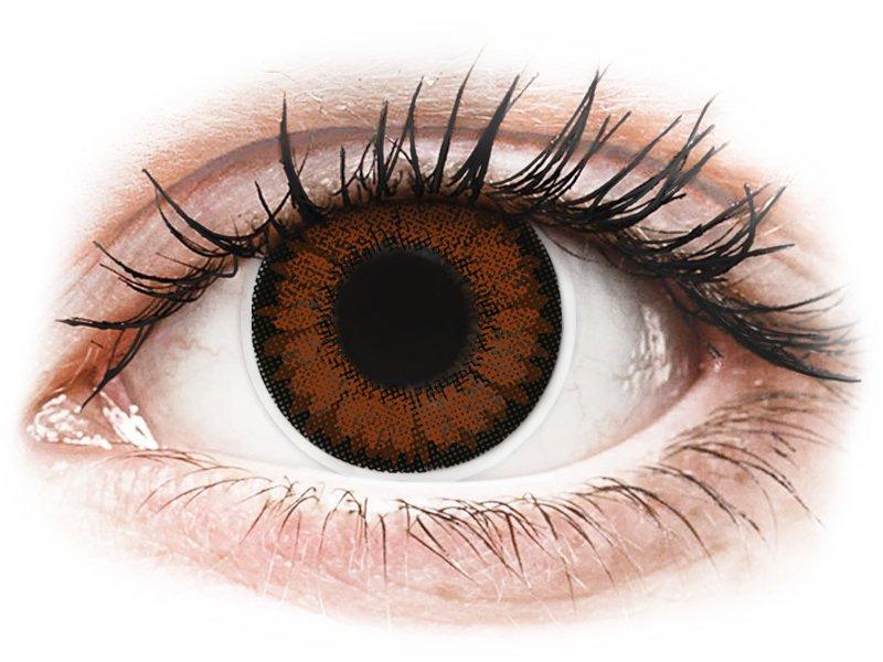 Ruskeat Pähkinä linssit - ColourVUE BigEyes (2kpl)