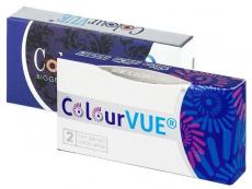 Ruskeat 3 Tones piilolinssit - tehoilla - ColourVUE (2kpl)