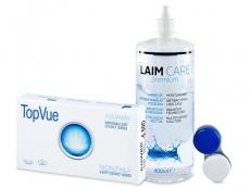TopVue Monthly (6kpl) + Laim Care-piilolinssineste 400 ml