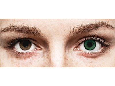 Vihreät Amazon piilolinssit - SofLens Natural Colors - tehoilla (2 kpl)