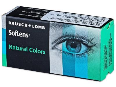Siniset Aquamarine linssit - SofLens Natural Colors - tehoilla (2 kpl)
