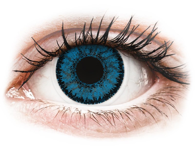 Siniset Topaz piilolinssit - SofLens Natural Colors - Tehoilla (2 kpl)