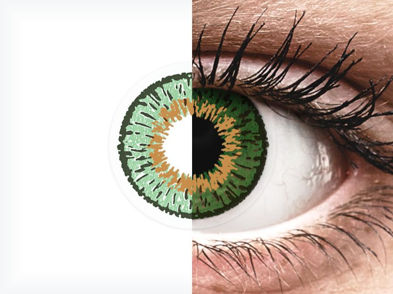 Vihreät piilolinssit - tehoilla - Expressions Colors (1 linssi)
