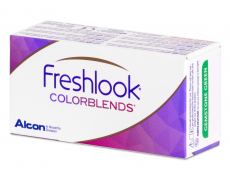 Ruskeat linssit - FreshLook ColorBlends - Tehoilla (2 kpl)