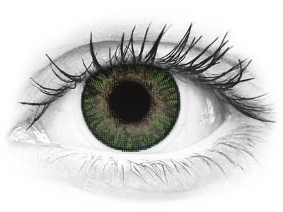 Jalokivi Vihreät linssit - FreshLook ColorBlends - Tehoilla (2 kpl)