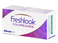 Harmaat linssit - FreshLook ColorBlends - Tehoilla (2 kpl)
