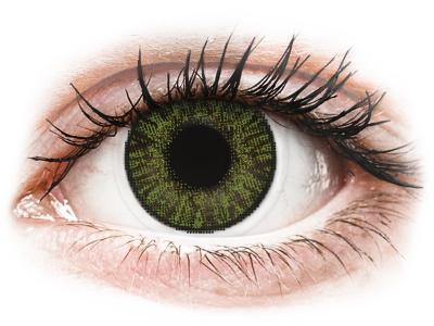 Vihreät linssit - FreshLook ColorBlends - Tehoilla (2 kpl)