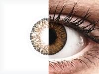 Ruskeat Hunaja linssit - FreshLook ColorBlends - Tehoilla (2 kpl)