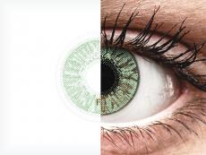 Vihreät piilolinssit - FreshLook Colors - Tehoilla (2 kpl)