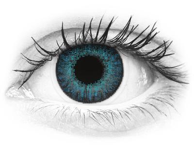 Kirkkaan Siniset piilolinssit - tehoilla - Air Optix (2kpl)