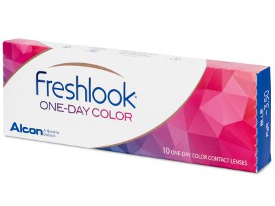 Siniset piilolinssit - FreshLook One Day Color - Tehoilla (10 kpl)
