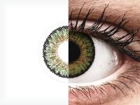 Vihreät piilolinssit - FreshLook One Day Color - Tehoilla (10 kpl)