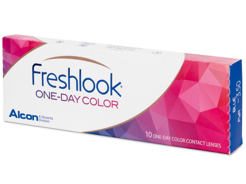 Pähkinä piilolinssit - FreshLook One Day Color - Tehoilla (10 kpl)