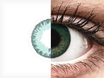 Siniset Aqua linssit - FreshLook Dimenstions (2 kpl)