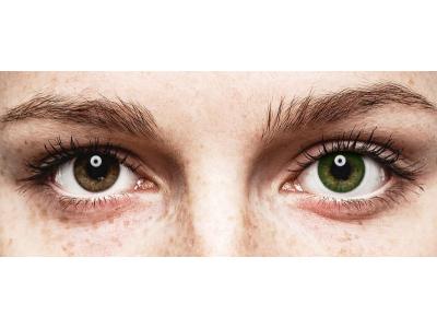 Vihreät Meri linssit - FreshLook Dimensions - Tehoilla (6 kpl)