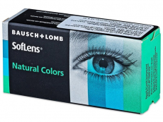 Tummat Pähkinä linssit - SofLens Natural Colors - Tehoilla (2 kpl)