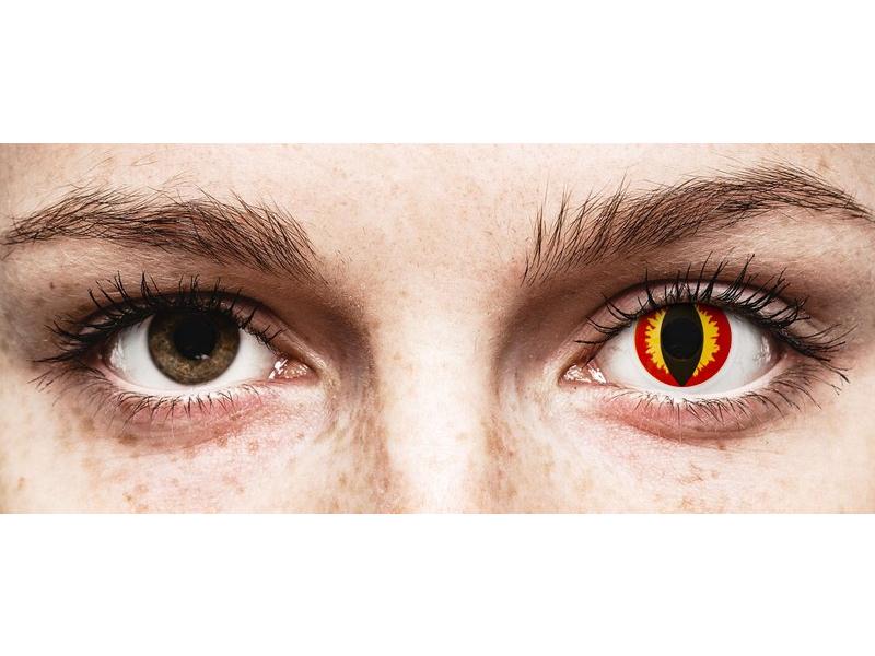 Punaiset ja Keltaiset Dragon linssit - ColourVue Crazy - Kertakäyttö (2 kpl)