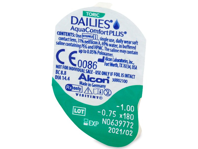 Dailies AquaComfort Plus Toric (30 kpl)
