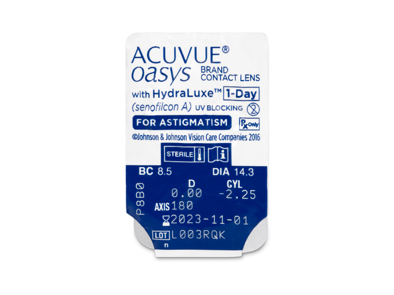 Acuvue Oasys 1-Day with HydraLuxe for Astigmatism (30 läätse)
