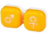 alensa.fi - Piilolinssit - Piilolinssikotelo man&woman - keltainen