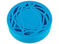 Piilolinssikotelo peilillä - sininen kuvio
